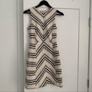 H&M Cream and Black Tweed Dress. NWT.
